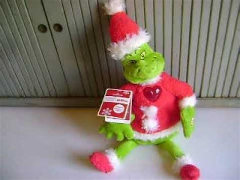 pop up talking grinch dr seuss grinch stole plush santa hallmark talking grinchy claus tag
