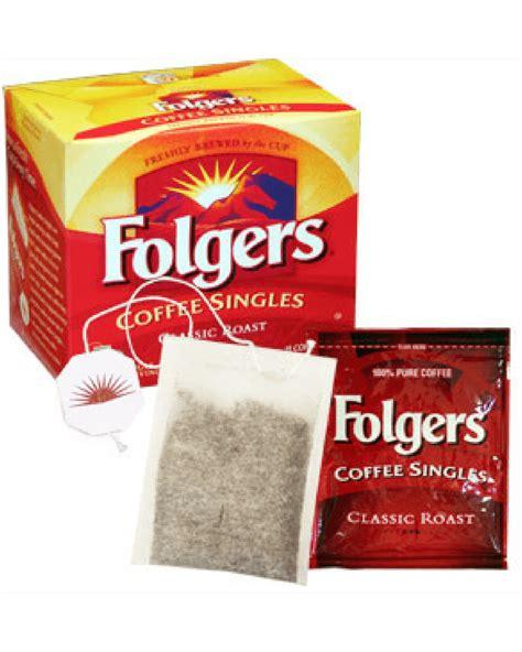 Classic roast single cup coffee. Folgers Coffee Singles - Coffee Bags - Coffee Roaster