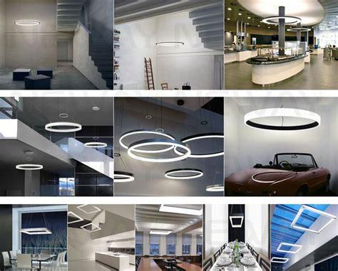 kitchen decorative ideas 105w top grade modern square shape suspended led pendant