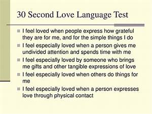 PPT - The Five ... Love Language Test