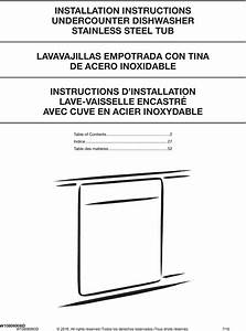 Kitchenaid Kdte104ebs4 User Manual Dishwasher Manuals And