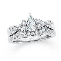 bridal sets bridal sets marquise white gold - Marquise Wedding Set
