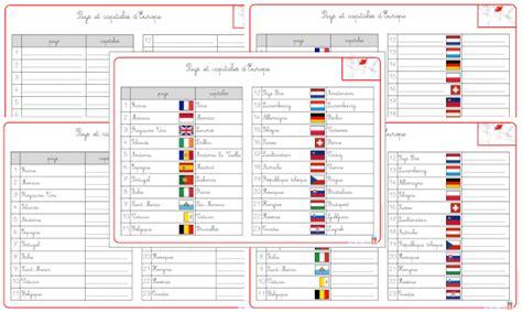 Carte Du Monde Avec Capitales Pdf by 4 2 L Europe Pays Capitales Drapeaux Et Gentil 233 S