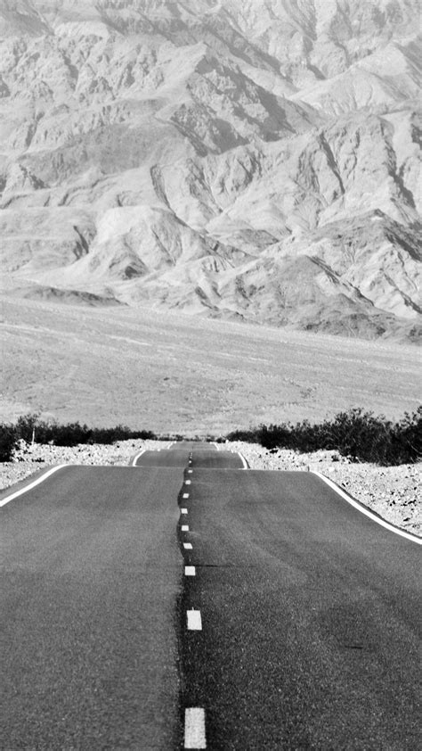 grey mountain road android wallpaper