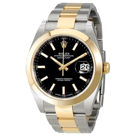 Rolex Datejust 41 Black Dial Steel and 18K Yellow Gold ...