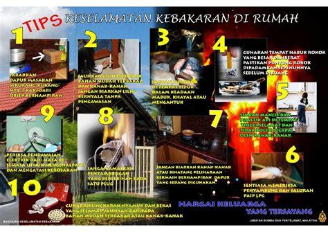 poster tips keselamatan kebakaran  rumah