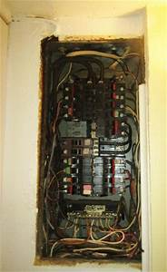Split Bus Federal Pacific Panel With Wiring On Wall   Wenatchee Home Inspections