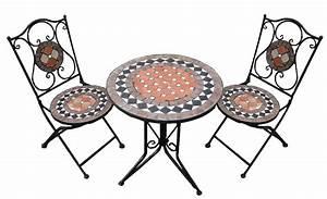 Mosaik Gartenmöbel Set : gartenm bel sitzgruppe 2 st hle und tisch mosaik ~ Watch28wear.com Haus und Dekorationen