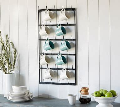 10 best coffee cup holder wall mount. Vintage Blacksmith Wall Mug Rack | Pottery Barn