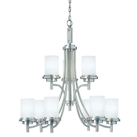 sea gull lighting chandelier sea gull lighting winnetka 9 light brushed nickel