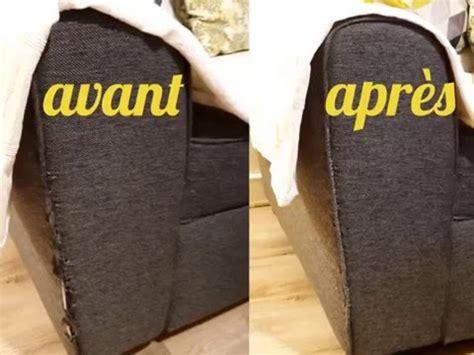 réparer canapé cuir diy réparation facile d 39 un accoudoir de canapé en tissu