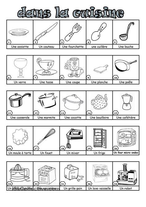 vocabulaire cuisine dans la cuisine la maison dans la cuisine