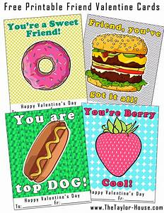 Free Printable Friend Valentine Cards | The Taylor House