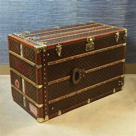 Large Bedroom Trunk by Exceptionally Large Louis Vuitton Wardrobe Trunk C 1916