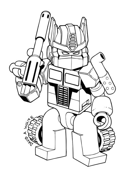 Coloring Transformer by Transformers Coloring Pages Getcoloringpages