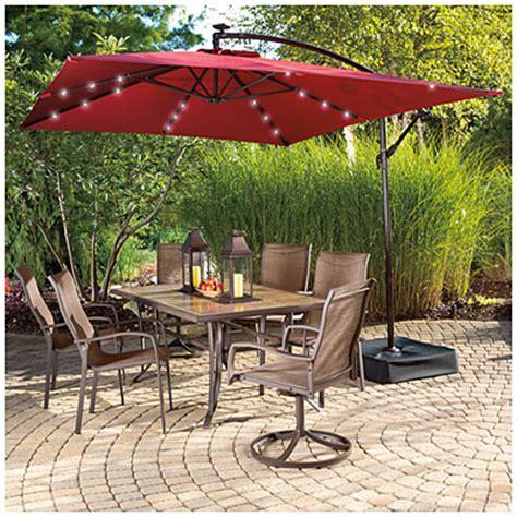 offset umbrella with solar lights view wilson fisher solar offset 11 39 x 8 39 rectangular