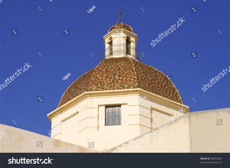 Church Cupola In Cagliari,sardinia. Stock Photo 38372845