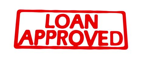 Animated Stamp Spelling Out Loan Approved In Red On Loan