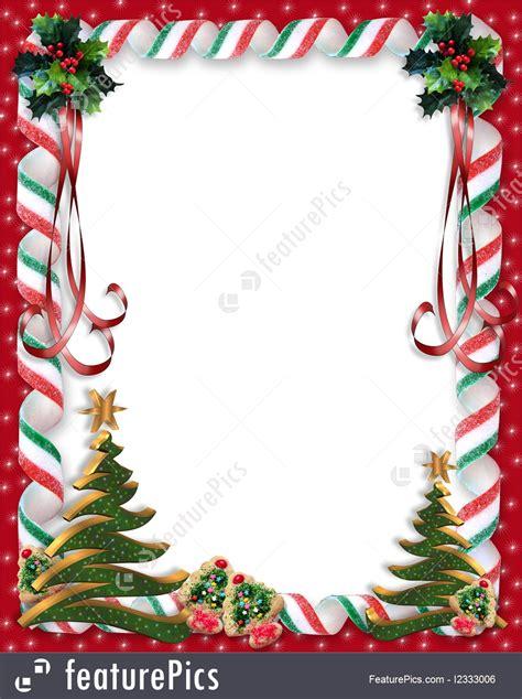 christmas candy  tree border illustration