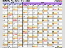 2018 And 2019 Academic Calendar – 2018 Calendar Template