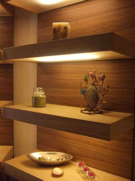 custom floating wall shelves decor ideas