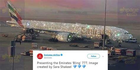 Emirates Airline Introduce Diamond Coated Aeroplane Ghpage