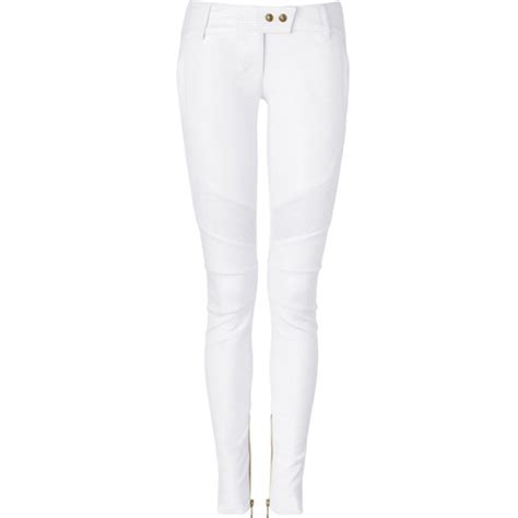 white leather pants  Pi Pants