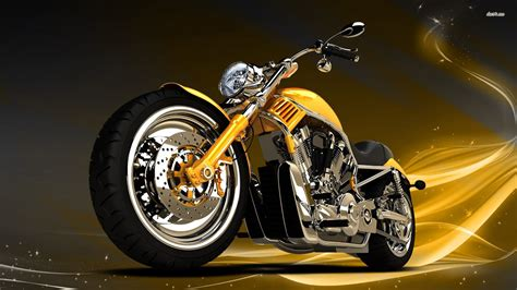 11751 Yellow Chopper 1920x1080 Motorcycle Wallpaper