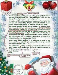 write email santa claus free letters from santa claus With original letter from santa