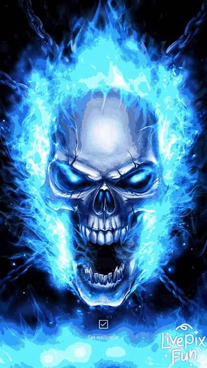 Skull Wallpapers Android Flame 3d Fire Flames