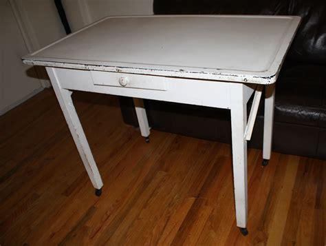 antique farmhouse kitchen baker table  porcelain