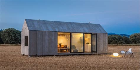 prefab barn homes modern prefab home for two from architecture firm