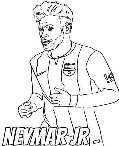 Coloring Neymar Pages Football Player Jr Printable