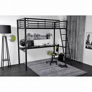 Lit Ikea 140x200 : lit mezzanine adulte 2 places ikea 9 lit mezzanine plateau bureau coloris gris 140x200 ~ Teatrodelosmanantiales.com Idées de Décoration