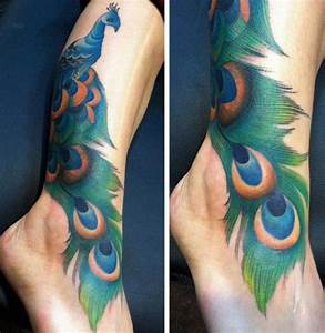 Foot Peacock Ankle Tattoo by Black 13 Tattoo