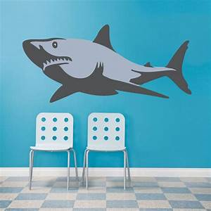 shark wall decal wall murals prime decals With shark wall decals