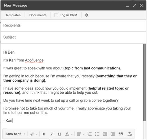 Do you have any tips or tricks to get a positive response? Meeting Email Sample + 5 Awesome Email Tips