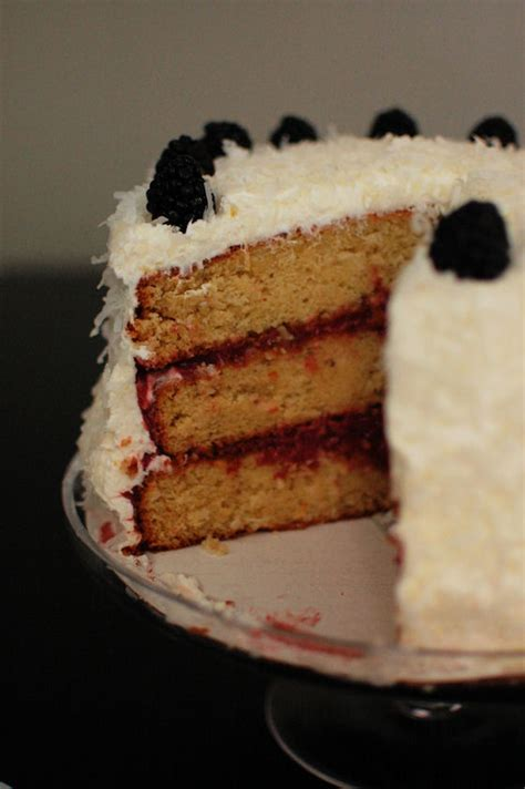 Blackberries Coconut Almond by Coconut Almond Cake With Blackberry Lime Curd Beantown Baker