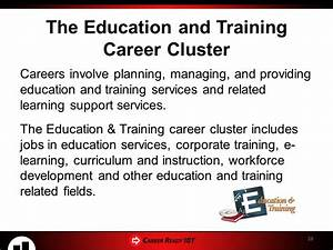 CREATING YOUR CAREER GOALS The 16 Career Clusters - Part 1 ...