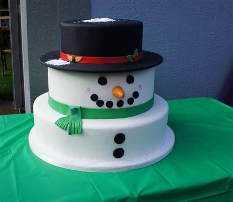 creative snowman cake designs