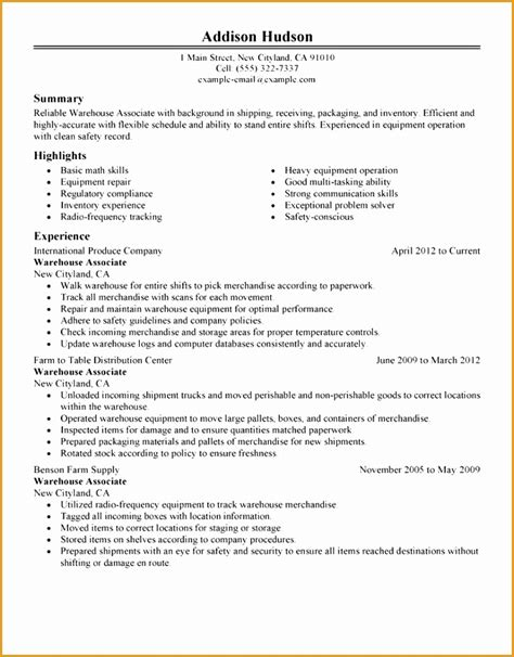 Warehouse Resume Objective by 4 Resume Objective Statement For Free Sles