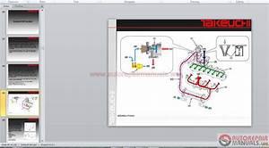 Auto Repair Manuals  Takeuchi Full Set Service Training  Service Manual  Operator  Part Manual