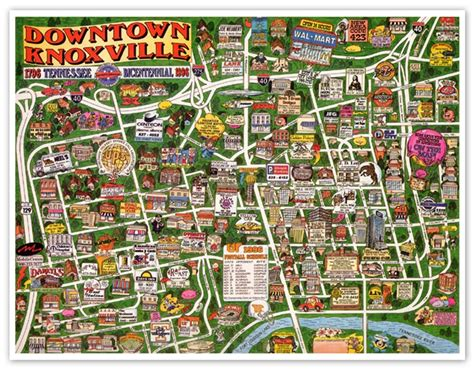 """Knoxville Cartoon Map"" Sample"