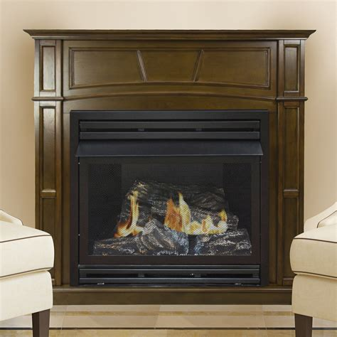pleasant hearth  lp full size heritage vf fireplace