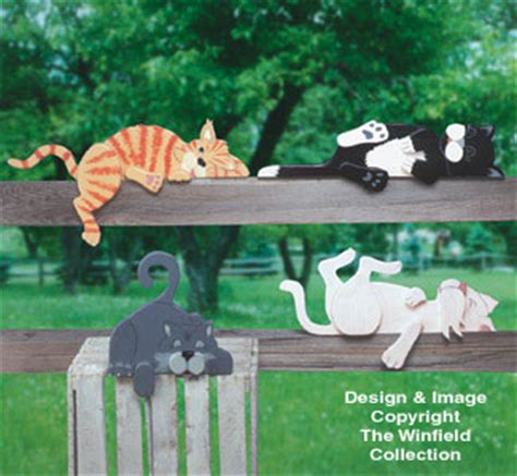 yard garden projects lazy rail cats woodcraft pattern