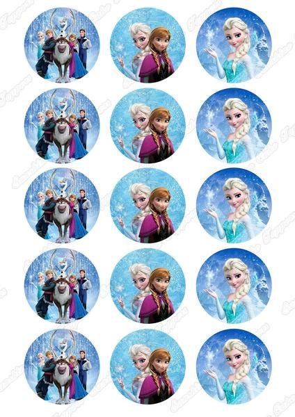 disney frozen  cupcake toppers   sunshine cake toppers