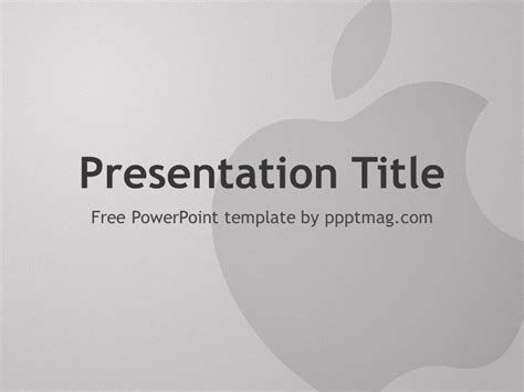 apple powerpoint template pptmag