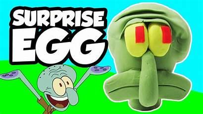 Spongebob Plankton Surprise Egg Squidward Play Doh