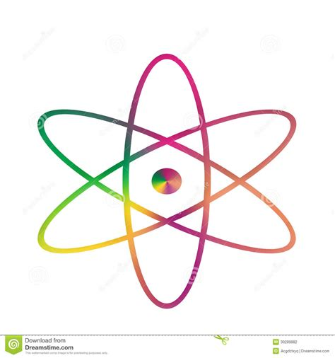 Symbol Of A Proton by Symbol Atom Stock Photography Image 30289882
