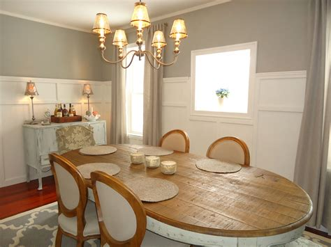 finally chose a warm gray color for dining area